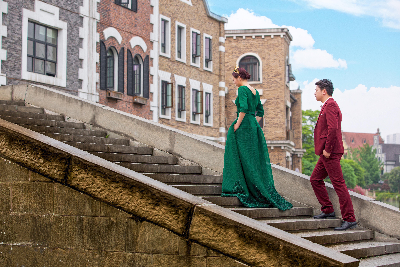 欧式欧式建筑婚纱照