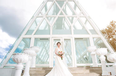 欧式别墅婚纱艺术照
