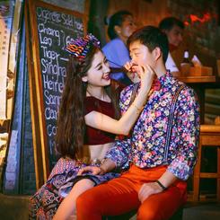 普吉岛时尚夜景婚纱照