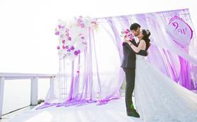 户外婚礼仪式+婚宴  总监单机摄影