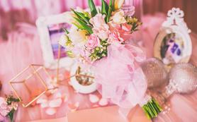 【artisan婚礼匠】粉金色樱花花艺主题婚礼
