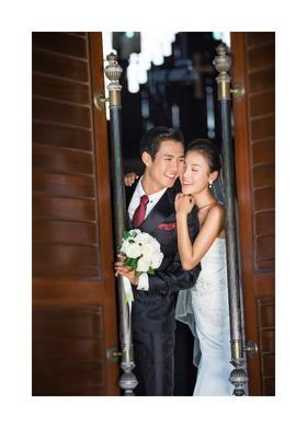 小清新欧式建筑婚纱照