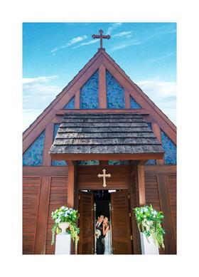 小清新欧式建筑婚礼教堂