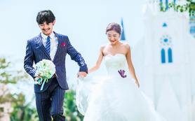 凤凰岭水晶教堂+威尔森基地+唯美韩式系列婚纱照