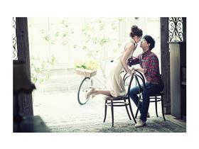韩式室内婚纱照