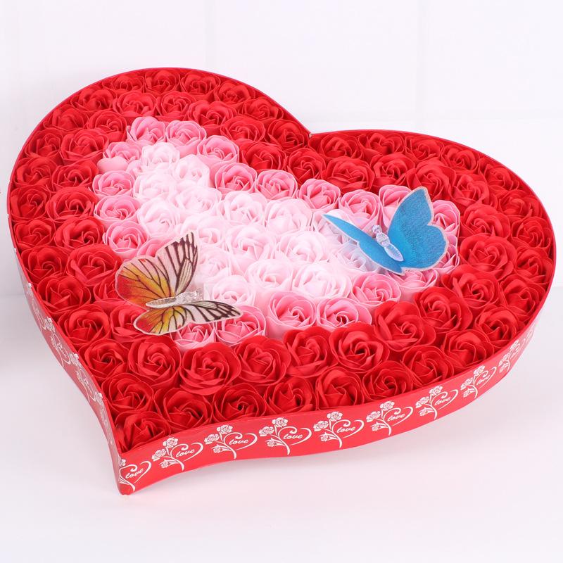 创意浪漫礼品情人节礼物香皂花玫瑰花永生花渐变 蝴蝶