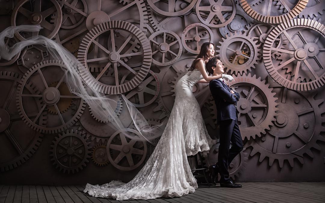 复古欧式建筑婚纱照