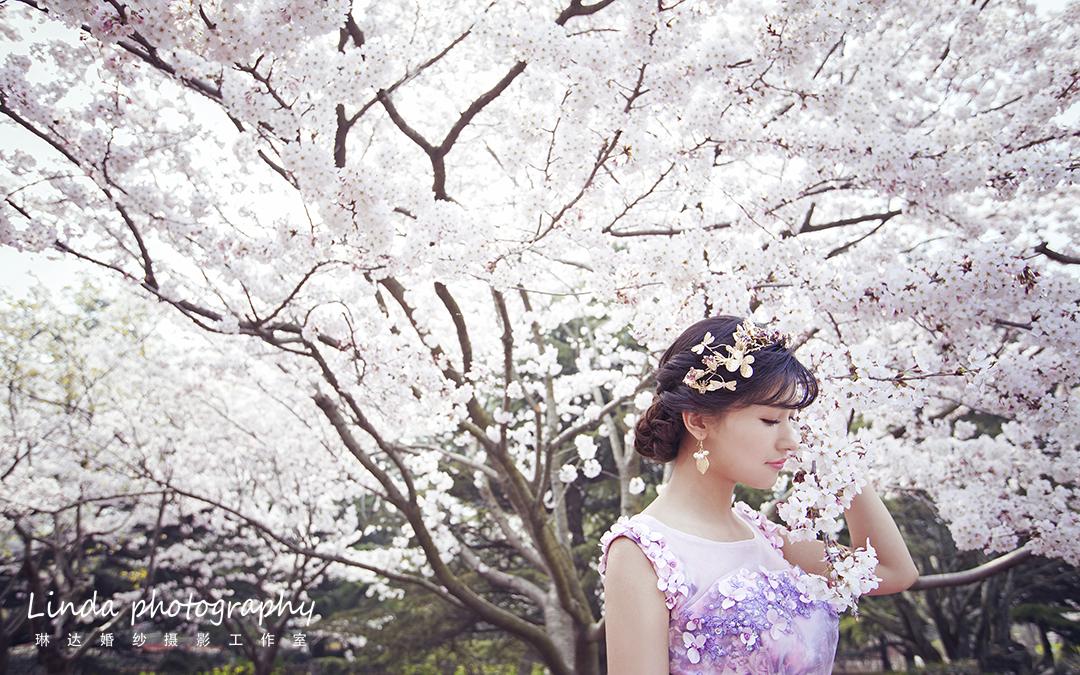 小清新花海婚纱照
