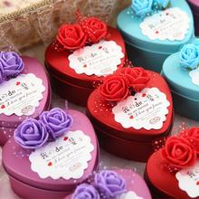 【定制照片】喜糖盒子创意欧式婚庆礼盒马口铁小号结婚糖果盒