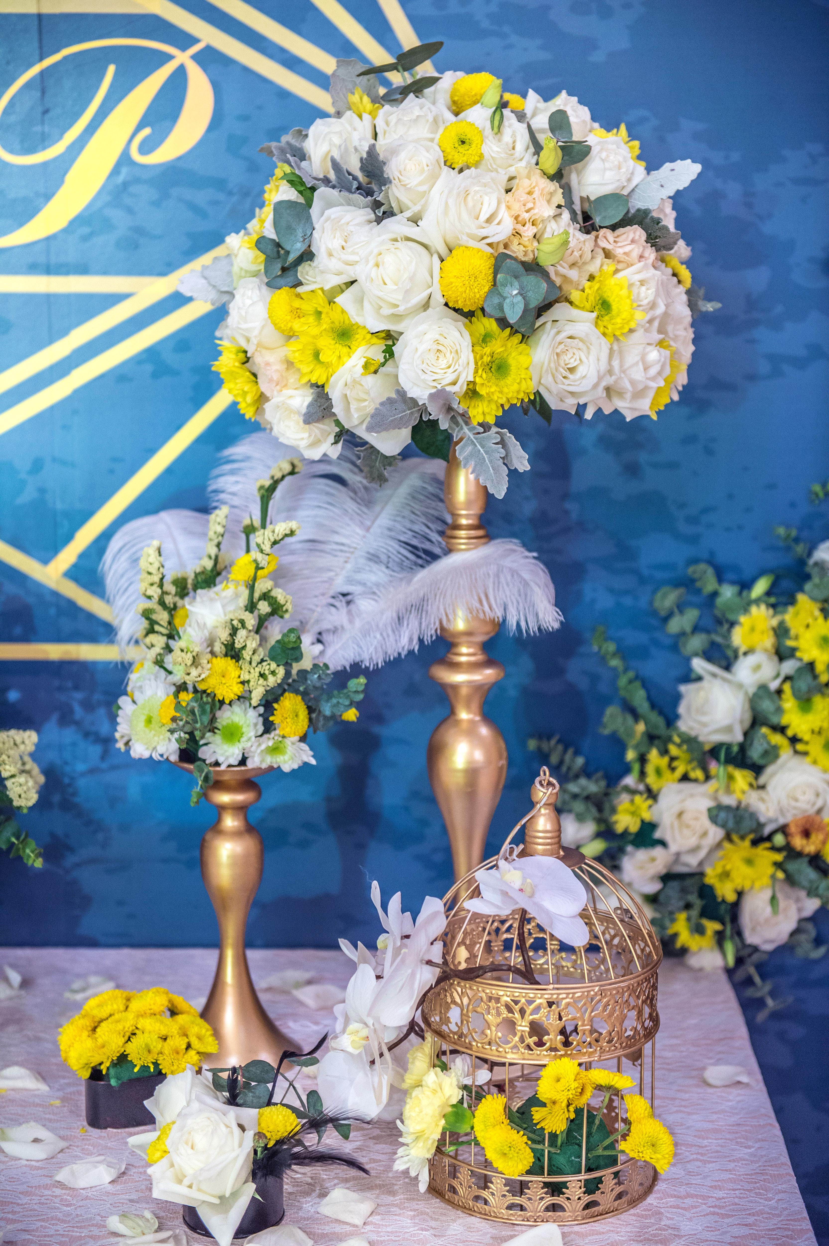欧式黄色婚礼布置