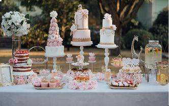 花漾---小清新风婚礼甜品台