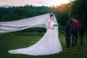 爱拍映像澳洲世纪浪漫马场海景夜景婚纱照