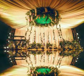 绿光森林森系婚礼布置效果图