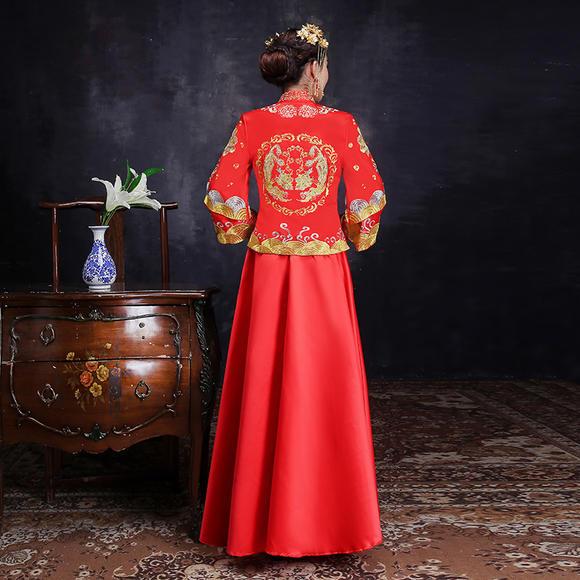 送头饰耳环 新款秀禾服新娘礼服结婚嫁衣中式结婚喜服