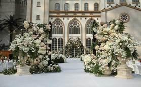 【帕菲婚礼】环球洲际酒店鲜花秘境教堂婚礼