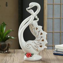 结婚新婚礼物品新房客厅电视柜酒柜装饰品创意天鹅摆件家居饰品设