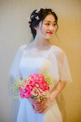 [奈斯婚纱礼服]面若桃花的春天