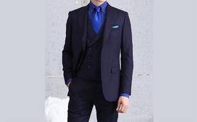 米顿定制 ■意大利进口面料 ■雅蓝色礼服
