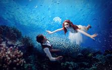 深圳个性婚纱摄影《水下专题》加梦幻森系5服5造