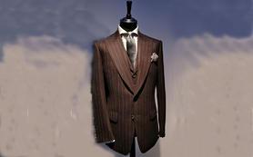 米顿定制 ◇ 时尚竖条纹礼服
