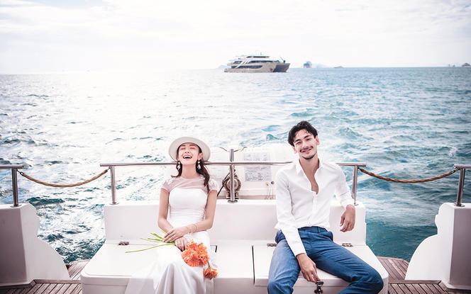 奢华游艇出海+量身订制婚纱+私人爱情微电影