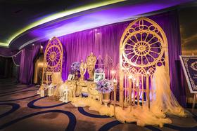 欧式紫色婚礼布置