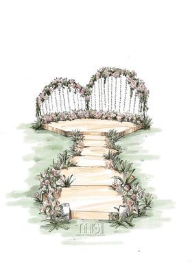小清新粉红色婚礼布置