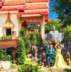 泰国普吉岛简约宫殿婚纱照