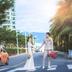 小清新三亚街景街拍婚纱照