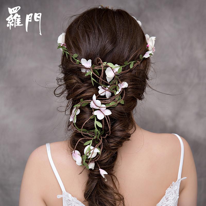 户外婚礼的新娘花环头饰~轻松打造清新森女范儿