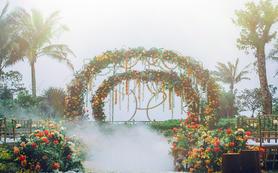 果橙色童心花园,海边创意主题婚礼