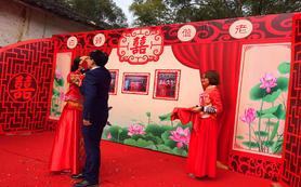 乡里中式婚礼,由于在乡里没迎宾区,实际包含迎宾区