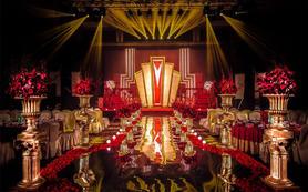 【梓塘婚礼▪北京】红金低调的奢华室内暗场婚礼