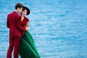 青岛爱蜜月旅拍海景主题婚纱照