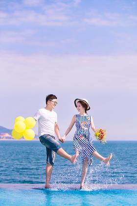 定制海景婚纱照 祝福【 梁建东 & 何萍 】