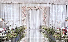 梦中婚礼—蔚蓝的天空下在紫色的梦境