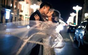 [爱意唯美婚纱摄影]夜景街拍