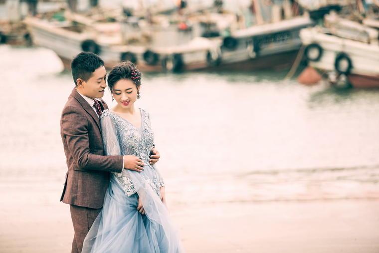 【拾光美摄】青岛婚纱摄影客片展示,西海岸渔港拍摄