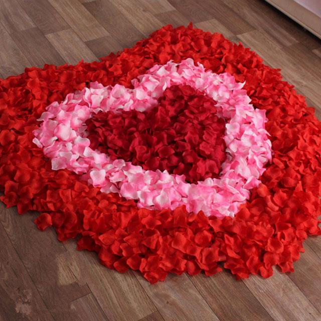 结婚仿真花瓣玫瑰花 假花瓣