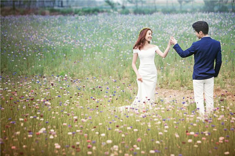大视觉摄影唯美小清新外景婚纱照