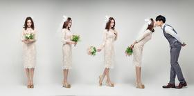 韩式唯美花海内景婚纱照