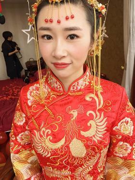 中式褂裙秀禾服婚纱礼服