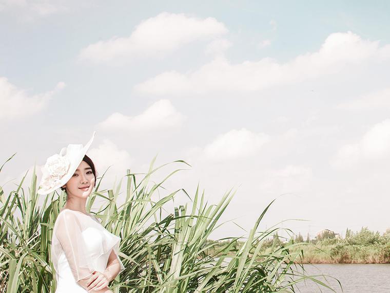 明悦◆金夫人悦影韩城简约森系轻奢韩式清新婚纱照
