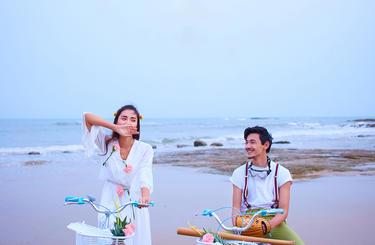 帆映像婚纱新开户送彩金网站大全主题样片——沙滩自行车