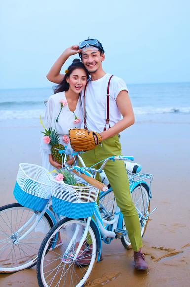 帆映像婚纱摄影主题样片——沙滩自行车