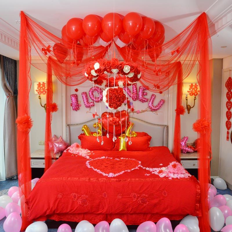 婚房布置 结婚用品 婚房装饰创意浪漫婚礼用品 花球 婚庆新房