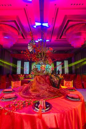 中式红色婚礼布置