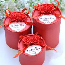 【可定制】结婚庆用品欧式创意糖果盒个性成品圆筒喜糖盒子