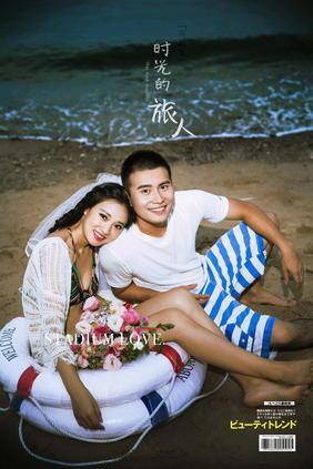 厦门熊猫影匠海边比基尼婚纱照