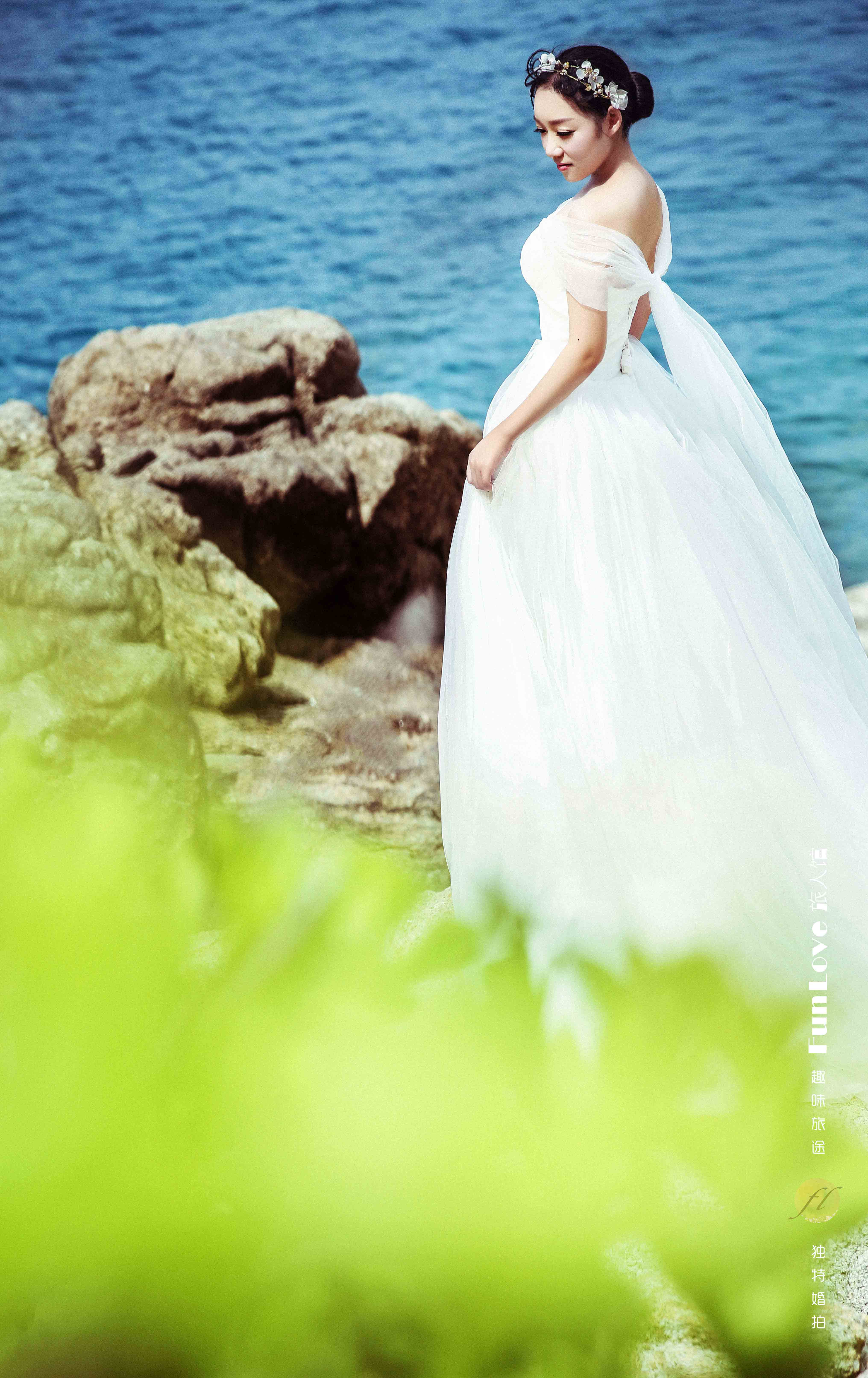 纪实海景婚纱照